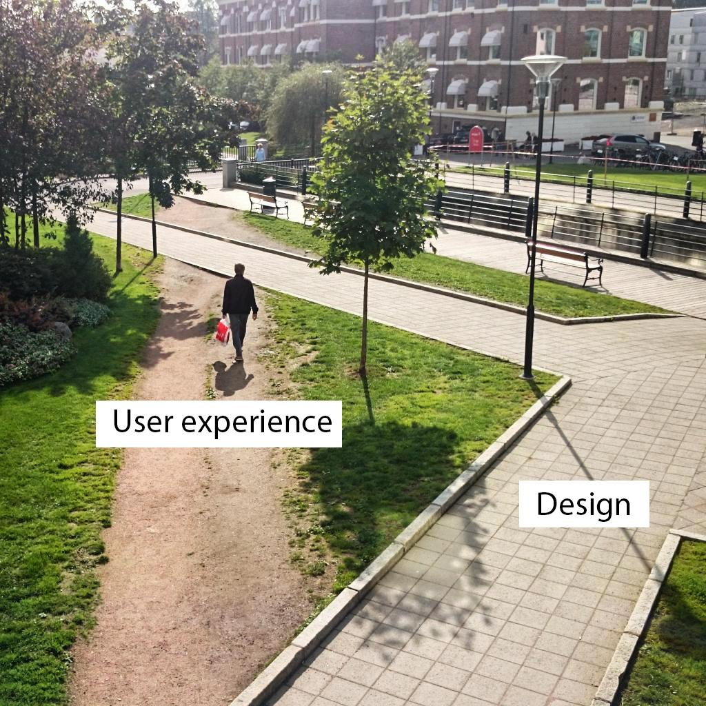 The difference between user experience and design in the picture - photo Coreteka