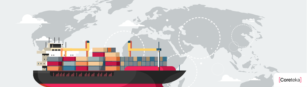 Influence of ocean freight logistics on ocean environment