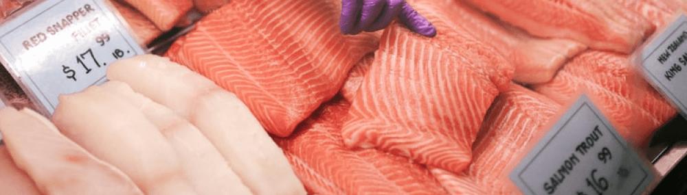 Selling of salmon, tuna or canned seafood